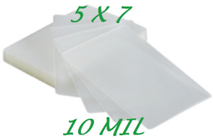 5 X 7 Laminating Laminator Pouches Sheets 500 5 25 X 7 25 10 Mil Quality