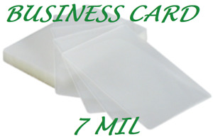 1000 Business Card 7 Mil Laminating Pouches Laminator 2 25 X 3 75 Quality