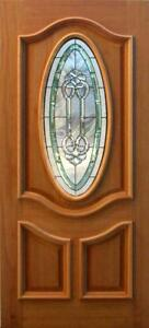 Hand Made Leaded Stained Glass Mahogany Entry Door Jhl3196 73