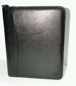 Franklin Covey Genuine Leather Zip 7 Rings Planner Binder Made In Usa Organizer