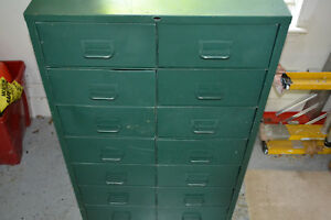Vintage Metal Industrial Storage Cabinet 14 Drawer Local Pickup Only