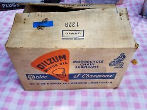 Oilzum full case motorcycle chain oil lubricant 12 aerosol can new old stock nos $325.00