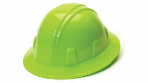 Pyramex Hp24131 Standard Sl Series Hi Vis Lime Full Brim Style Hard Hat 12 Each