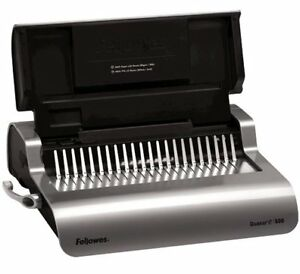 New Fellowes Quasar E Electric Plastic Comb Binding Machine Free Shipping