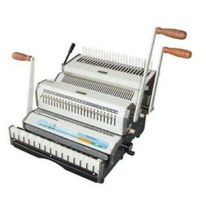 New Akiles Wiremac Combo Wire Plastic Comb Binding Machine Free Shipping