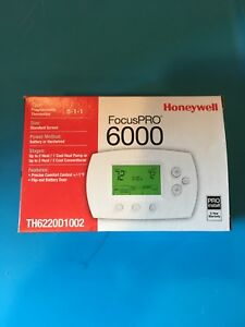 Honeywell Thermostat Focuspro 6000 Programmable Digital 5 1 1 2h 2c Th6220d1002