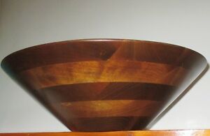 Walnut Wood Hand Turned Wooden Bowl Large 4 25 Deep X 14 Open Top