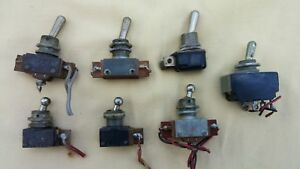 Lot Of 7 Vintage Und Lab Inc carling Toggle Switches Arrow H h Varied Models
