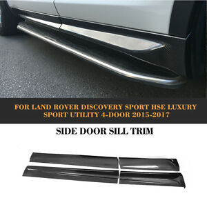 4pcs Car Side Skirt Body Kit Refit Carbon For Land Rover Discovery Sport 15 17