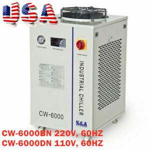Cw 6000 Industrial Water Chiller For 100w Solid state Laser 30w 300w Fiber