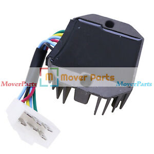 12v Voltage Regulator 6 Wire 15531 64601 For Kubota B1550 B2100 B2320 B3200