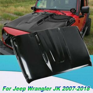 New Avg Avenger Style Hood W Plastic Vents For Jeep Wrangler Jk 2007 2018