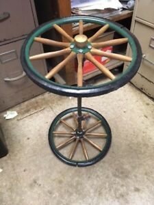 Antique Wagon Wheels Wooden Spokes With Metal Axle Buggy Or Carriage Euc
