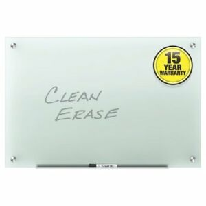 Quartet Infinity Glass 6 X 4 Frosted Non magnetic Frameless Dry erase Board