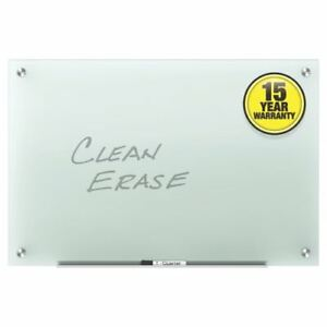 Quartet Infinity Glass 8 X 4 Frosted Non magnetic Frameless Dry erase Board