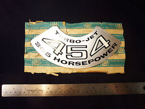 Nos 1970 70 1971 71 Chevelle Corvette 454 365hp Ls5 Horsepower Air Cleaner Decal