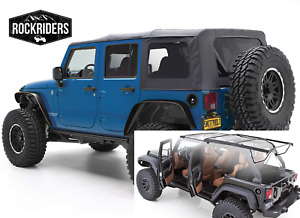 Factory Style Complete Soft Top With Hardware Fits 07 18 Jeep Wrangler Unlimited
