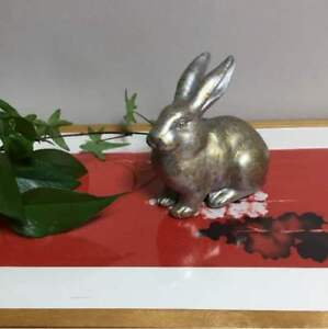 Antique Rabbit Gold Silver Object Japan Retro Popular Rare Beautiful Ems F S