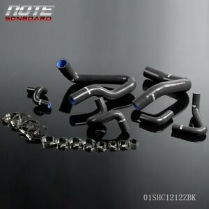 Gplus Silicone Radiator Hose Kit Black For 1986 1993 Mustang Gt Lx Cobra 5 0