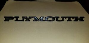 Plymouth Roadrunner B Body Nos Mopar Hood trunk Emblem 3749326