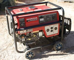 Honda Em5000s Generator 5000 watt New Never Used Local Pickup