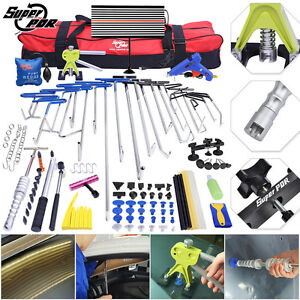 115 Pdr Rods Tools Paintless Dent Repair Dent Lifter Led Light Hail Removal Set