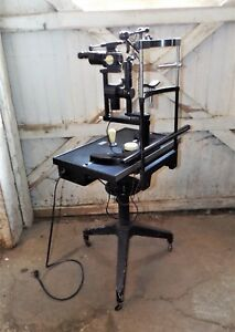 Vintage Carl Zeiss Slit Lamp Biomicroscope And Optometriststable Steampunk Ind