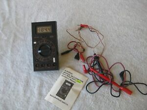 Sears Hand Held Bench Top Portable 36 range Digital Multimeter 82418 Manual