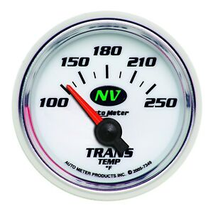 Autometer Products Gauge Transmission Temp 2 1 16 In 100 250 Degree F Ele