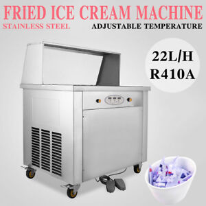 New Temperature Control Double Pan Fried Ice Cream Maker Roll Ice Cream Machine