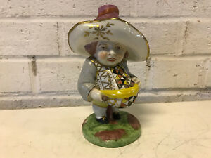 Antique Staffordshire English Porcelain Grotesque Dwarf Figurine Statue