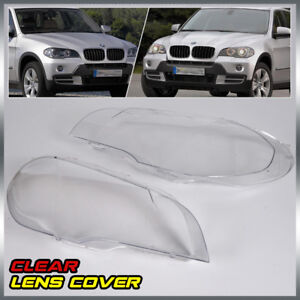 2 X Headlight Lens Lamp Cover Lampshade Replacement For Bmw X5 E70 07 12 4 door