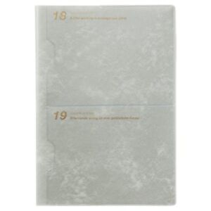 F s Notebook 2019 A5 Monthly Vinyl Pocket Gray Lams43 100gy 9 May Beginning 201