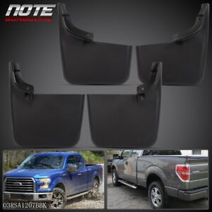 For 2004 2015 Ford F 150 W O Fender Flares New Mud Flaps Molded Splash Guards