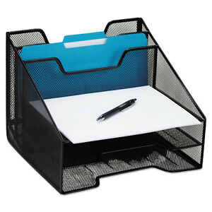 Rolodex Combination Sorter 5 Sections Metal Mesh Black Office Organizer Files