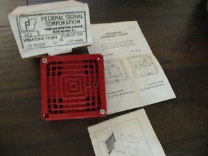 Federal Signal Vibratone Fire Alarm Horn Brand New In Box