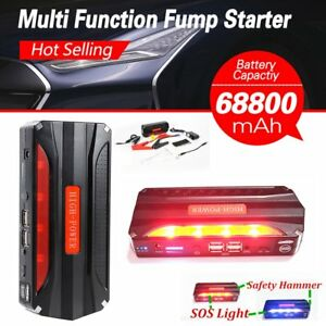 68800mah 4usb Car Jump Starter Emergency Charger Booster Power Bank Battery Hm