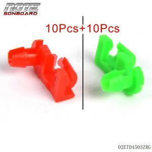 20pcs Tailgate Handle Latch Rod Retainer Clips Inner Pair For Chevy Gmc Pickup