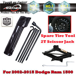Autofather Spare Tire Tools And 2 Ton Scissor Jack For 2002 2015 Dodge Ram 1500