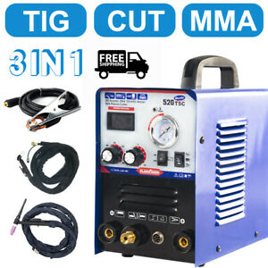 520tsc 3in1 Welding Machine Tig mma plasma Cutter Welder Torches Accessories