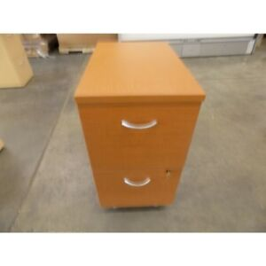 Used 26 X 24 X 15 Brown Wood Standard 2 drawer File Cabinet