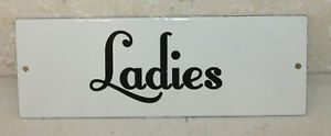 Vintage Style Ladies Restroom Signs Porcelain Gas Station Garage Man Cave