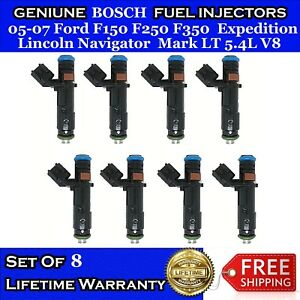 8x Upgrade Oem Bosch Fuel Injectors For 05 07 Ford F150 F250 F350 Navigator 5 4l