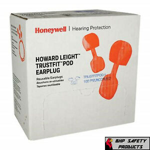 Howard Leight Trustfit Pod Disposable Ear Plugs Corded Nrr 28 100 box