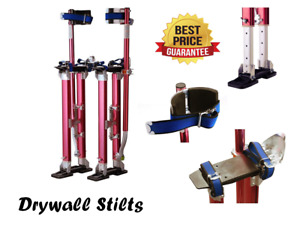 Red Drywall Stilts Professional 24 40 Highest Quality Aluminum