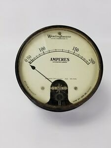 Vintage Westinghouse Ac Amperes Meter Gauge Type Sy Style 363833 a Steampunk