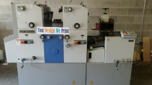 Ryobi 3302h Two Color Offset Printing Press I Would Print Any 2 Colors Jobs