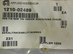 Applied Materials 1210 02489 Dale Rh 50 Resistor 100 Ohm 50w 1 lot Of 6