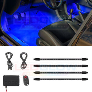 Ledglow 4pc Blue Expandable Smd Led Interior Under Dash Lights Lighting Kit