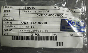 Ebara Technologies C 3100 000 3800 Hand Claw S2 1b Lot Of 17